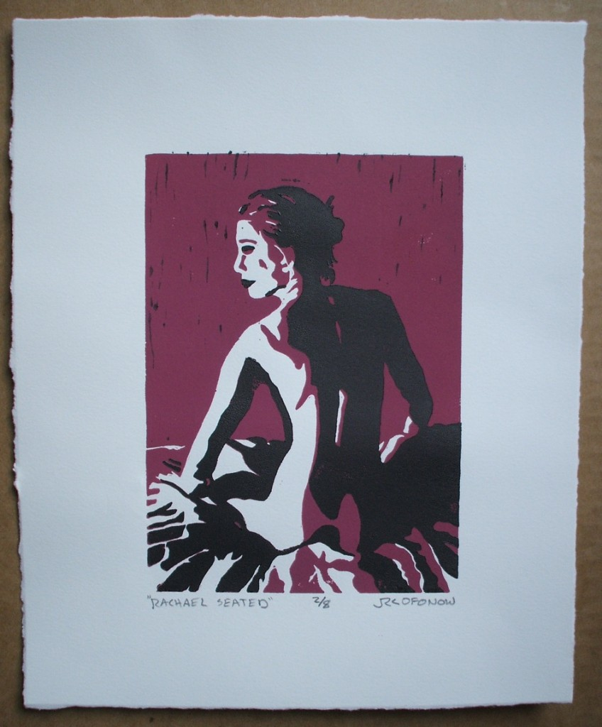 reduction relief print of Rachael Seated