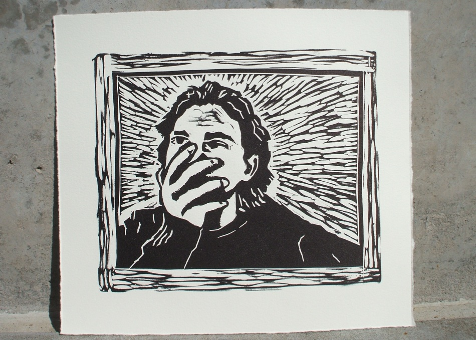 Self Portrait Relief Print