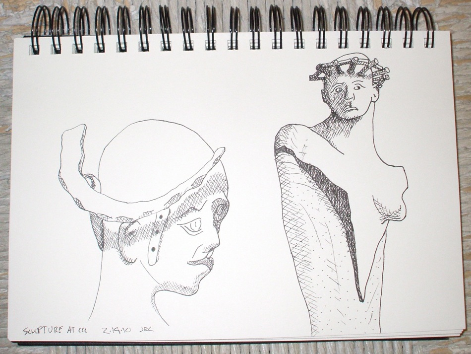 sketch of ccc crowned sculptures